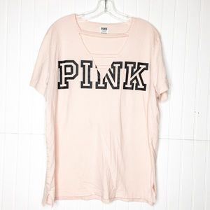 PINK | Cutout Logo Tee